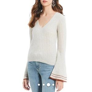 Free People 'May Morning' Sweater  Sz L  NWT
